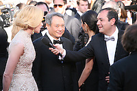 Nicole Kidman and Ang Lee being interviewed at the 'Nebraska' film gala screening at the Cannes Film Festival Thursday 23rd May 2013