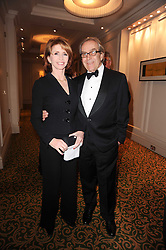 GERALD SCARFE and JANE ASHER at a gala dinner in celebration of 80 years since the first Foyles Literary Luncheon, held in The Ball Room, Grosvenor House Hotel, Park Lane, London on 21st October 2010.