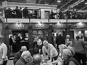 Customers at the Lock Keepers Inn, Boat show, Excel Centre, London. 10 January 2018
