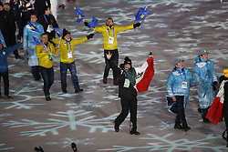 February 25, 2018 - Pyeongchang, KOREA - Athlete from Mexico and other countries during the closing ceremony for the Pyeongchang 2018 Olympic Winter Games at Pyeongchang Olympic Stadium. (Credit Image: © David McIntyre via ZUMA Wire)