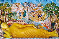 Sri Lanka, province du sud, district de Matara, Ensemble monastique de Wewurukannala // Sri Lanka, Southern Province, Matara district, Wewurukannala temple