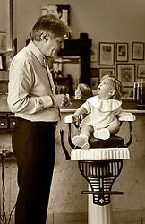 08 September 2013. Aidan Gill for Men. New Orleans, Louisiana. <br /> Benjamin Gachassin gets his first haircut with Aidan Gill.<br /> Photo; Charlie Varley