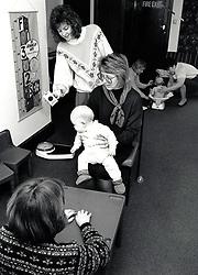 Baby clinic, Nottingham UK, 1989