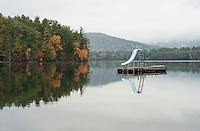 Raft and slide on Squam Lake off Bean Road.  ©2012 Karen Bobotas Photographer
