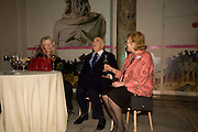 LADY WEIDENFELD; LORD WEIDENFELD; LADY ANTONIA PINTER, Orion Publishing Group Author Party. V & A. London. 18 February 2009.  *** Local Caption *** -DO NOT ARCHIVE -Copyright Photograph by Dafydd Jones. 248 Clapham Rd. London SW9 0PZ. Tel 0207 820 0771. www.dafjones.com<br /> LADY WEIDENFELD; LORD WEIDENFELD; LADY ANTONIA PINTER, Orion Publishing Group Author Party. V & A. London. 18 February 2009.