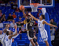 Southern Miss Golden Eagles forward Leonard Harper-Baker (32) rebounds during the Southern Mississippi Golden Eagles at Middle Tennessee Blue Raiders college basketball game in Murfreesboro, Tennessee, Saturday, March, 7, 2020.<br /> Photo: Harrison McClary/All Tenn Sports