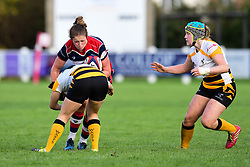 Amelia Buckland-Hurry of Bristol Ladies  is tackled by Kanyinsola Afilaka of Wasps Ladies - Mandatory by-line: Craig Thomas/JMP - 28/10/2017 - RUGBY - Cleve RFC - Bristol, England - Bristol Ladies v Wasps Ladies - Tyrrells Premier 15s