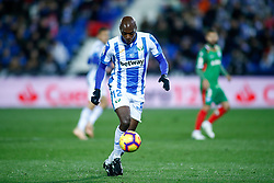 November 23, 2018 - Leganes, MADRID, SPAIN - Nyom of Leganes during the Spanish Championship La Liga football match between CD Leganes and Deportivo Alaves on November 23th, 2018 at Estadio de Butarque in Leganes, Madrid, Spain. (Credit Image: © AFP7 via ZUMA Wire)