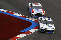 September 30, 2018 - Concord, North Carolina, United States of America - Ty Dillon (13) races during the Bank of America ROVAL 400 at Charlotte Motor Speedway in Concord, North Carolina. (Credit Image: © Chris Owens Asp Inc/ASP via ZUMA Wire)