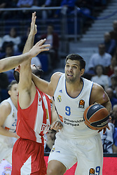 December 1, 2017 - Madrid, Madrid, Spain - Felipe Reyes, #9 of Real Madrid during the 2017/2018 Turkish Airlines Euroleague Regular Season Round 10 game between Real Madrid v Crvena Zvezda mts Belgrade at Wizink Arena on December 1, 2017 in Madrid, Spain. (Credit Image: © Oscar Gonzalez/NurPhoto via ZUMA Press)
