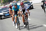 Yousif Mirza (EAU - UAE Team Emirates), Andrei Grivko (UKR - Astana Pro Team), Silvan Dillier (SUI - AG2R - La Mondiale) during the Tour of Guangxi 2018, stage 1, Beihai - Beihai 107,4 km on October 16, 2018 in Beihai, China - Photo Luca Bettini / BettiniPhoto / ProSportsImages / DPPI