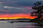 Morro Bay sunset, San Luis Obispo County, California, USA