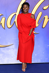 Clara Amfo attending the Aladdin European Premiere held at the ODEON Luxe Leicester Square, London