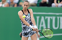 NOTTINGHAM, ENGLAND - JUNE 13: Magdalena Rybarikova of Slovakia in action against Mona Barthel of Germany during Day Five of the Nature Valley Open at Nottingham Tennis Centre on June 13, 2018 in Nottingham, United Kingdom.