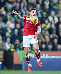 Josh Brownhill of Bristol City controls the ball - Mandatory by-line: Arron Gent/JMP - 23/02/2019 - FOOTBALL - Carrow Road - Norwich, England - Norwich City v Bristol City - Sky Bet Championship