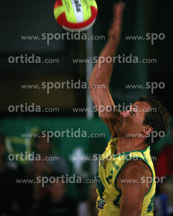 Rok Satler (EMA TV Team) at qualifications for 14th National Championship of Slovenia in Beach Volleyball and also 4th tournament of series TUSMOBIL LG presented by Nestea, on July 25, 2008, in Kranj, Slovenija. (Photo by Vid Ponikvar / Sportal Images)/ Sportida)