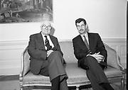 Tanaiste Dick Spring Meets Meets Lord Callaghan DFA 14-3-1994