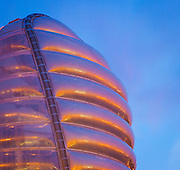 National Space Centre, Rocket Tower clad with ETFE pillows, Leicester, UK. Architect:  Nicholas Grimshaw Built: 2001