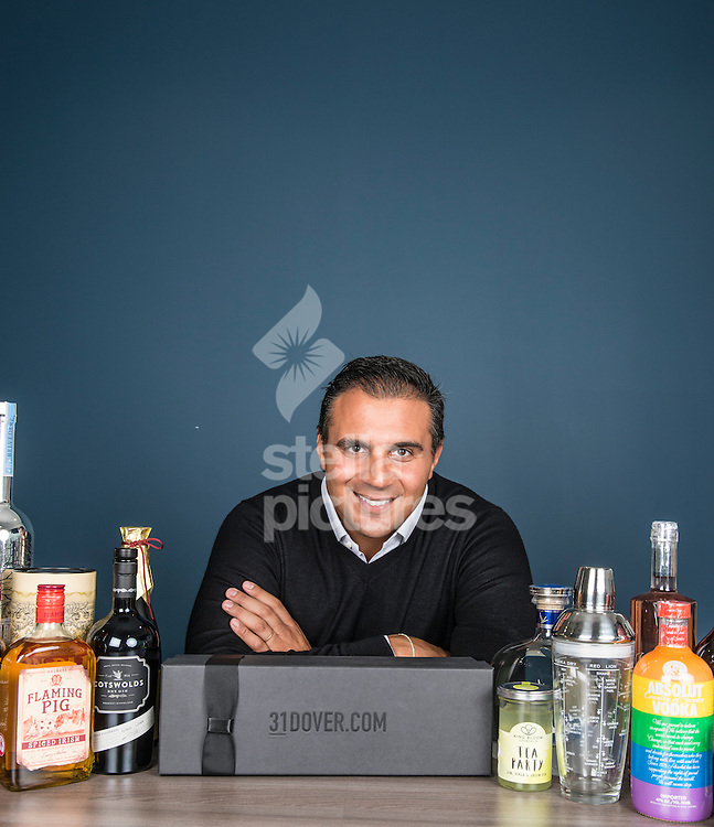 David Elghanayan, Co-Founder and CEO of 31DOVER.com, the UK's leading drinks home delivery portal, pictured at their central London offices. <br /> Picture by Daniel Hambury/Stella Pictures Ltd +44 7813 022858<br /> 24/08/2015
