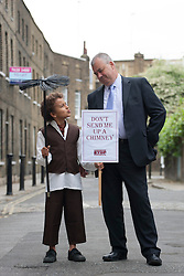 © licensed to London News Pictures. London, UK 31/05/2012. TUC General Secretary Brendan Barber (right) and Jude Chinchen (left) posing as TUC launches employment rights campaign today in London (31/05/12). Photo credit: Tolga Akmen/LNP