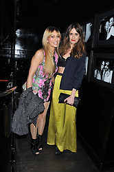 Left to right, ZARA MARTIN and JADE WILLIAMS - SUNDAY GIRL at a party hosted by TopShop to celebrate 10 years of NEWGEN and 10 years of supporting Brtish Fashion held at Le Baron, 29 Old Burlington Street, London W1 on 21st February 2012.