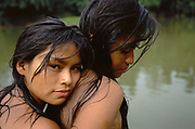 Machiguenga Indians at River<br />
