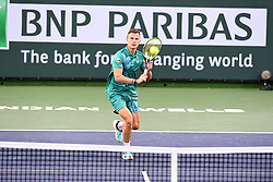 March 10, 2019 - Palm Desert, California, Usa - Tennis : BNP Paribas Open 2019 -  Marton Fucsovics - Hongrie (Credit Image: © Panoramic via ZUMA Press)