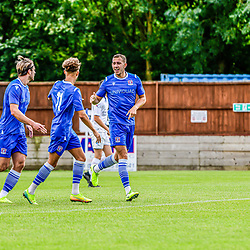 Harry Williams celebrates 11th Minute goal at Swindon Supermarine against Ty Belford Stratford Town fc