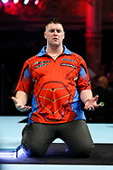 Daryl Gurney during the BetVictor World Matchplay at Winter Gardens, Blackpool, United Kingdom on 22 July 2018. Picture by Chris Sargeant.