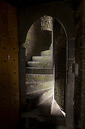 Curved tone stairwell in the Carrigafoyle Castle, County Kerry on the Shannon River, Ireland seen on July, 2007. The Castle was built by O'Conner Kerry in the late 15th and early 16th centuries.(Photo/John Froschauer).