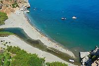 Grece, Crete, Province de Rethymnon, plage de Preveli // Greece, Crete island, rethymnon province, Preveli beach