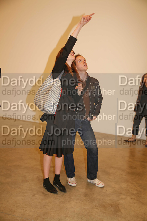 Jonny Aldous and Leanne Elliott, Tal R. Minus. Victoria Miro Gallery. 13 May 2006. ONE TIME USE ONLY - DO NOT ARCHIVE  © Copyright Photograph by Dafydd Jones 66 Stockwell Park Rd. London SW9 0DA Tel 020 7733 0108 www.dafjones.com