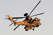 Israeli Air force helicopter, Apache longbow in flight