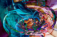 colorful abstract swirl art: colors vortex image with swirling objects and shades