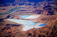 Potash evaporation ponds by the Colorado River, Utah