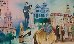California: Napa City, mural seen during George Webber historic tour.  Photo copyright Lee Foster.  Photo # canapa107043