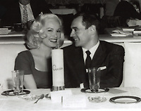 1956 Mamie Van Doren & Ray Anthony at Ciro's Nightclub