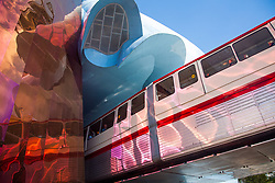 United States, Washington, Seattle, Monorail and Experience Music Project and Science Fiction Museum