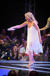 Kylie Minogue performs during the Strictly Come Dancing Launch at the TV Centre, London. Picture date: Monday August 26, 2019. Photo credit should read: Empics