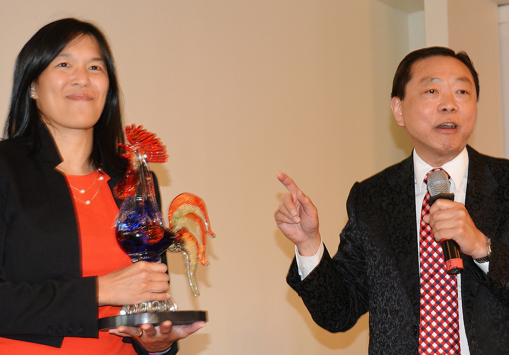 Trustee Anne Sung and Dr. Leung.