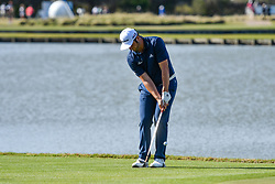 March 21, 2018 - Austin, TX, U.S. - AUSTIN, TX - MARCH 21: Jon Rahm hits a chip shot during the First Round of the WGC-Dell Technologies Match Play on March 21, 2018 at Austin Country Club in Austin, TX. (Photo by Daniel Dunn/Icon Sportswire) (Credit Image: © Daniel Dunn/Icon SMI via ZUMA Press)