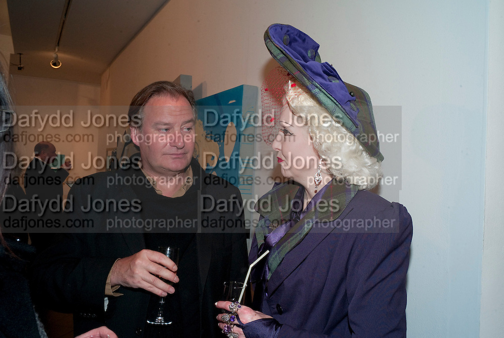 PINKY; JAMES BIRCH, book launch for Nina Fowler's rtists book about her work on 'Valentino's funeral'.   Bernard Jacobson Gallery, 6 Cork Street. London. 4 March 2010.