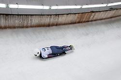 20.02.2016, Olympiaeisbahn Igls, Innsbruck, AUT, FIBT WM, Bob und Skeleton, Damen, Skeleton, 3. Lauf, im Bild Anne O'Shea (USA) // Anne O'Shea of the USA competes during women Skeleton 3rd run of FIBT Bobsleigh and Skeleton World Championships at the Olympiaeisbahn Igls in Innsbruck, Austria on 2016/02/20. EXPA Pictures © 2016, PhotoCredit: EXPA/ Johann Groder