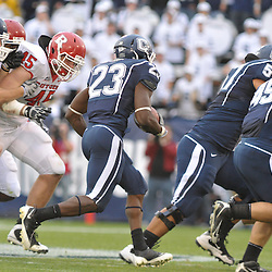 Oct 31, 2009; East Hartford, CT, USA; Connecticut running back Jordan Todman (23) runs the ball during second half Big East NCAA football action in Rutgers' 28-24 victory over Connecticut at Rentschler Field.