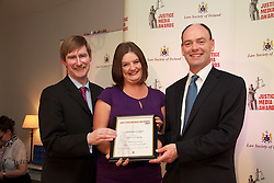 The Law Society of Ireland annual Justice Media Awards 2012. Thrusday 7th June 2012...The Law Society of Ireland (Thursday, 7th June, 2012) announced the winners of its annual Justice Media Awards 2012. ..These awards, which are 20 years in existence, focus on published works or broadcasts that have helped to inform and educate Irish citizens on the role of law in society. The aim is to give national recognition to published works or broadcasts that: ..1).Promote the highest standards in legal journalism;.2).Foster greater public understanding of the law, the legal system or any specific legal issue;.3).Inform and educate citizens as to the roles in society of the law, the courts, law enforcement agencies and the legal profession;.4).Disclose practices or procedures needing reform so as to encourage the development and modernisation of Irish laws, courts and law enforcement agencies; and/or.5).Assist the legal profession, the judiciary, and all others involved in the administration of justice in attaining the highest professional standards. ..The Law Society wholeheartedly congratulates all of today's winners of 'Justice Media Awards' and 'Certificates of Merit'. ..This broad-sweeping series took an extremely critical look at the legal system. It was informed and informative and while critical of many aspects of the legal system, was balanced in its approach. It succeeded admirably in informing the general public about the most salient challenges facing the legal system today.?.The Law Society wholeheartedly congratulates all of today's winners of 'Justice Media Awards' and 'Certificates of Merit'. .Marisa Reidy of The Kerryman for her article '?Whistling donkey? leaves court in tears of laughter'...Pictured at the awards.Ken Murphy, Ken Murphy, Director General of the Law Society of Ireland..Marisa Reidy of The Kerryman for her article '?Whistling donkey? leaves court in tears of laughter'..President of Law Society of Ireland, Donald Binchy.....What the judges said