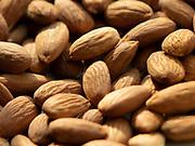 Close up selective focus photograph of Almonds