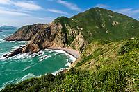 Coastline landscape, High Island, Hong Kong Global Geopark, China. 粮船湾海岸风景,中国香港世界地质公园。