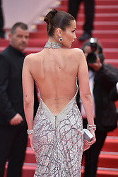 Cannes - Naked Back - Bella Hadid dressed by Elie Saab attends the Blackkklansman screening held at the Palais des Festivals on May 14, 2018 in Cannes, France as part of the 71st annual Cannes Film Festival. Photo by Lionel Hahn/ABACAPRESS.COM
