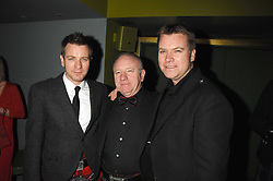 Left to right, EWAN MCGREGOR, JAMES MCGREGOR and COLIN MCGREGOR at 'Not Another Burns Night' in association with CLIC Sargebt and Children's Hospice Association Scotland held at ST.Martins Lane Hotel, London on 3rd March 2008.<br />