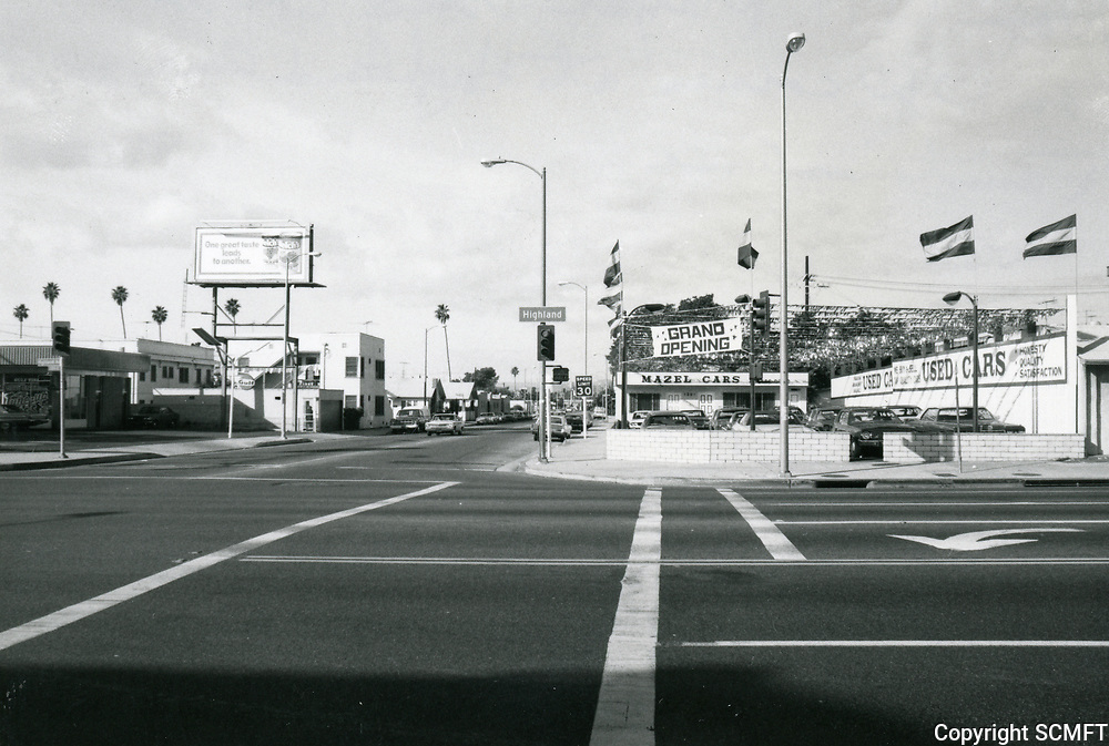 1977 Used car lot on Highland Ave. & Franklin Ave.